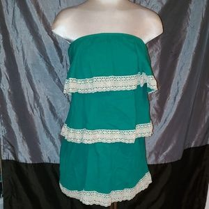 Judith March turquoise layered dress
